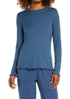 Zella Lettuce Edge Long Sleeve Rib T-Shirt