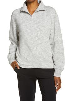Zella Peaceful Half Zip Fleece Pullover
