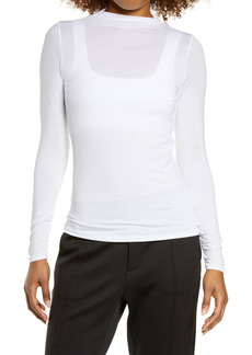 Zella Ruched Back Long Sleeve Top