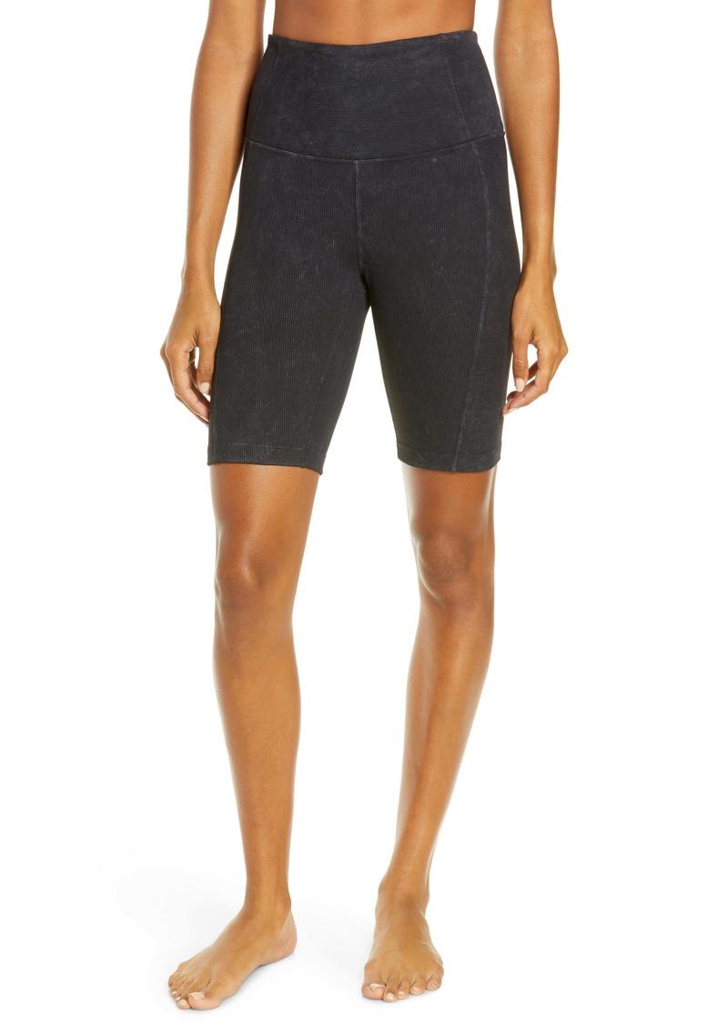 Zella Snow Wash Rib Bike Shorts