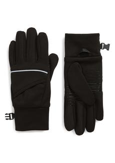 Zella Stretch Fleece Running Gloves