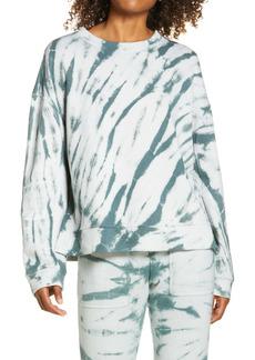 Zella Coastal Tie Dye Crewneck Sweatshirt