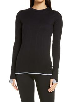 Zella Tipped Seamless Long Sleeve Top
