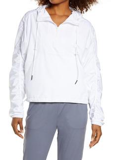 Zella Urbanite Lightweight Quarter Zip Hooded Jacket
