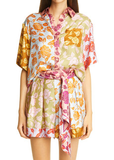 Zimmermann The Lovestruck Floral Silk Shirt