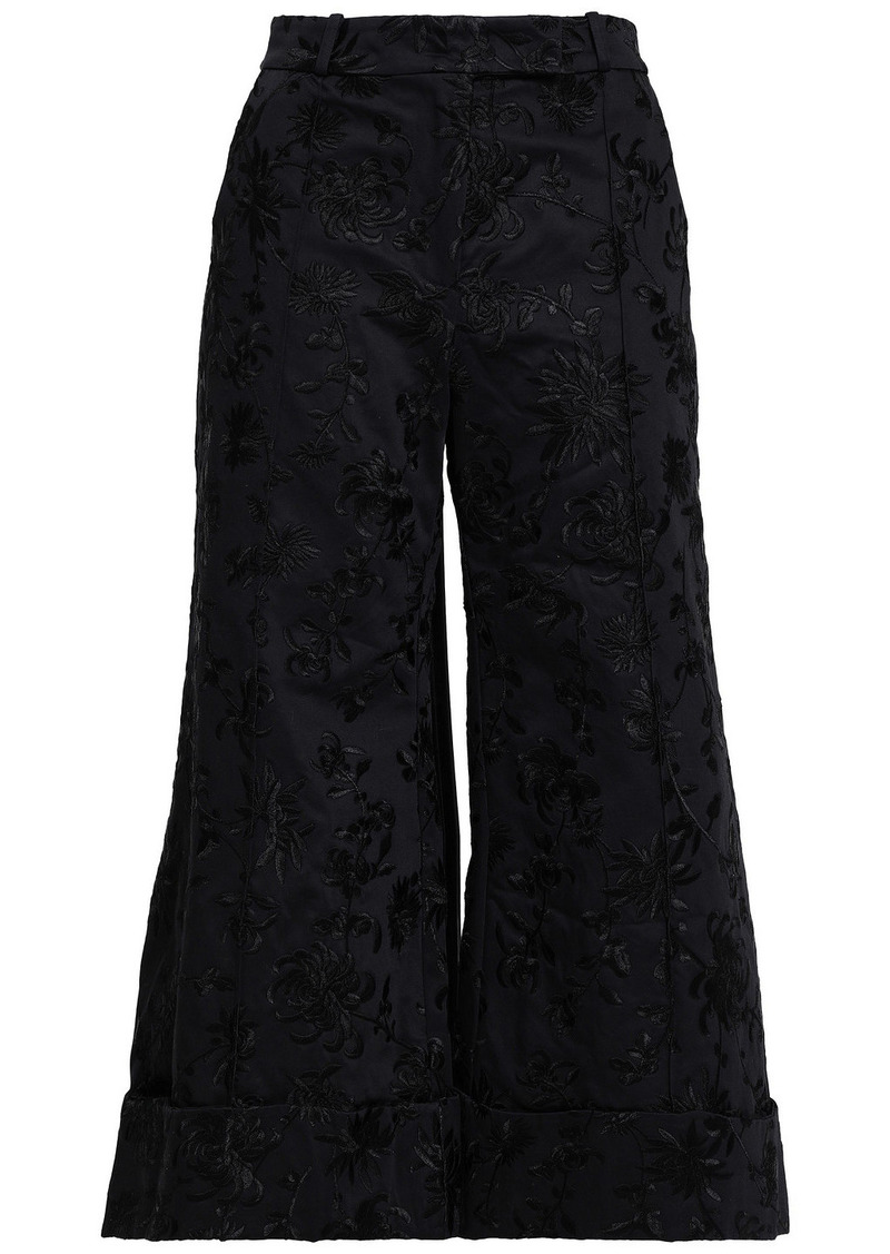 Zimmermann Woman Cotton-jacquard Culottes Black