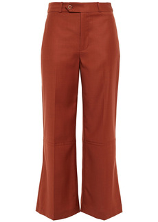 Zimmermann Woman Cropped Wool Flared Pants Brick