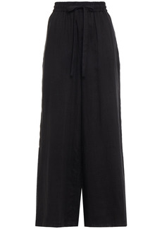Zimmermann Woman Edie Ramie Wide-leg Pants Black