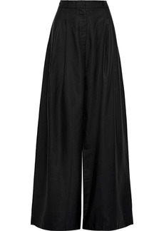 Zimmermann Woman Unbridled Silk Wide-leg Pants Black