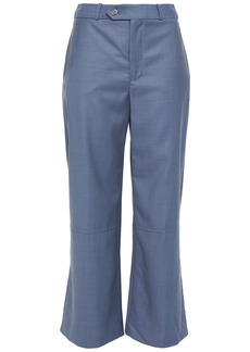 Zimmermann Woman Wool Kick-flare Pants Slate Blue