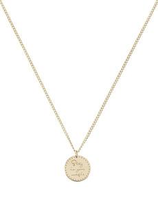 Zoë Chicco Gold Mantra Pendant Necklace