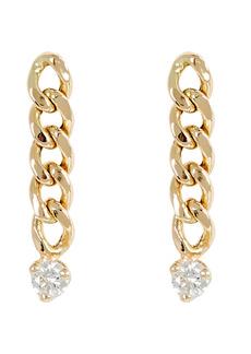 Zoë Chicco Small Curb Chain Drop Earrings
