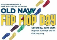 Old Navy Flip Flop Day - Saturday!
