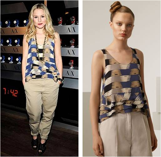 Kristen Bell Bought the Cute Top in My Salemail
