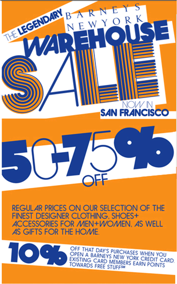The Barney's Warehouse Sale hits San Francisco!