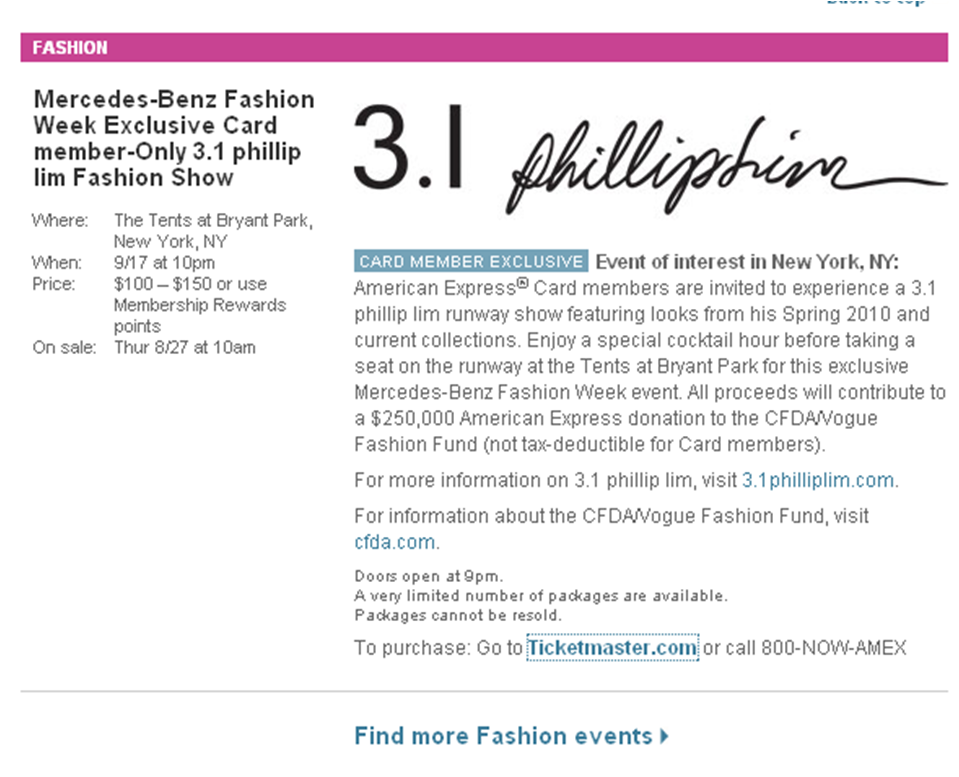 It's your chance - attend the 3.1 Phillip Lim Fashion Show!