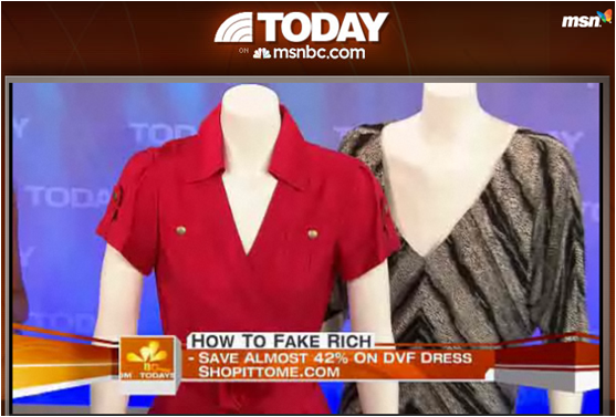 Shop It To Me on the Today Show - Best Ways to Fake Being Rich!