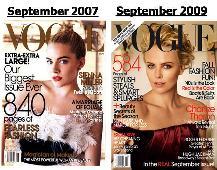 Vogue's September Issue - 2007 vs. 2009