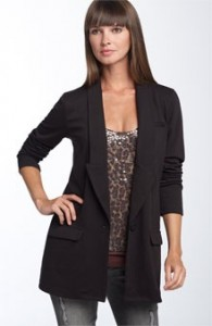 Trouve Double Knit Boyfriend Blazer