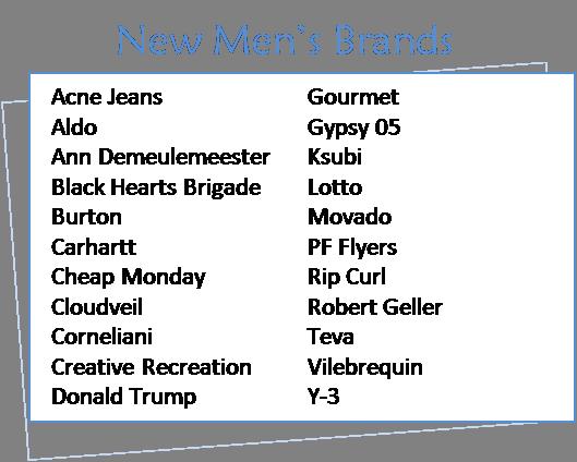 New brands Nov 09 mens