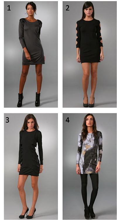 LBD not cutting it? We have cocktail dresses for the cold!