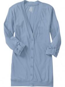 Old Navy Roll-Sleeve Jersey Boyfriend Cardigan