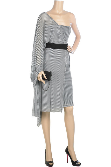 Deal of the Day: McQ Striped Silk-blend Dress