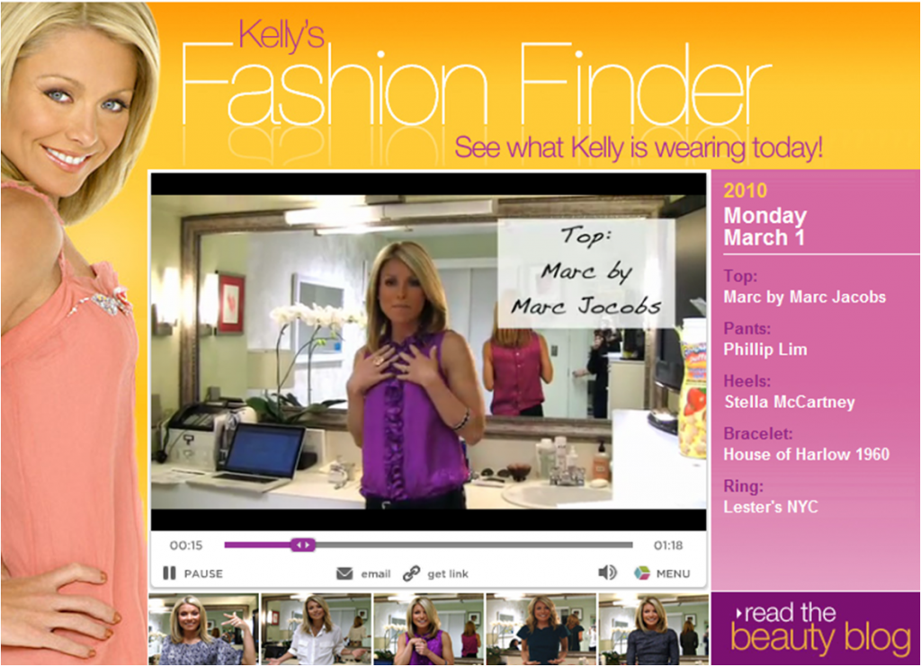 In Today's Salemail: Kelly Ripa's Marc by Marc Jacobs Top!