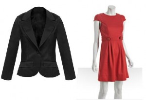 Blazer & Shoshanna dress