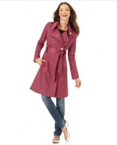 Green with Envy Pink Trench