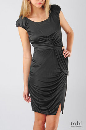 Deal of the Day: Black Halo Exaggerated Shoulder Dress