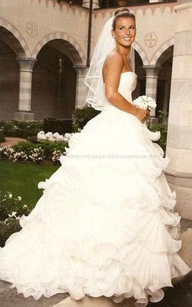 Coleen Rooney in Marchesa gown