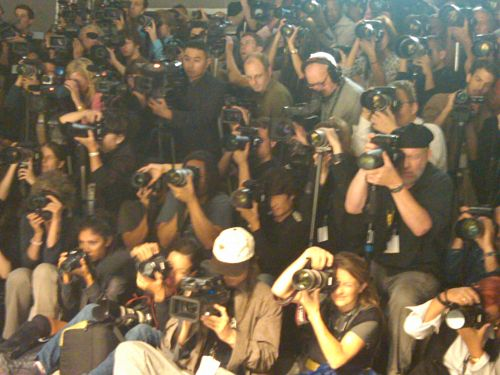 Photographers Pit at Lela Rose