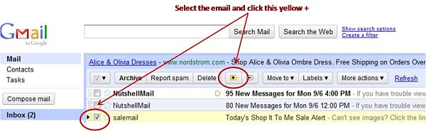 Gmail Priority Inbox: Tips for Shop It To Me