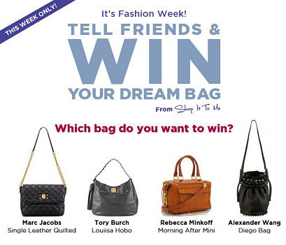 Designer Bag Giveaway: And the Winner Is...