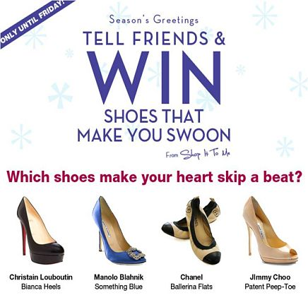 Win Designer Shoes of Your Choice!