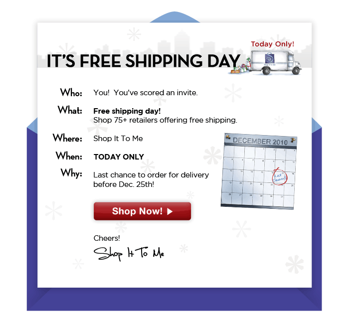 Happy Free Shipping Day!