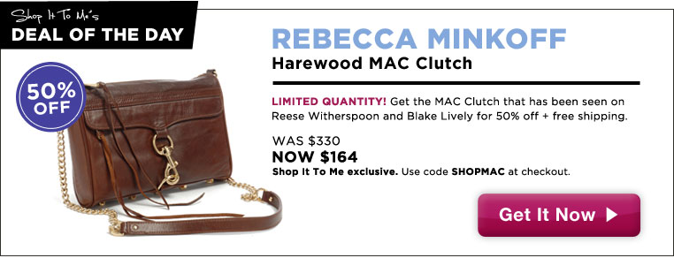 50% off Rebecca Minkoff Harewood Mac Clutch: Shop It To Me Exclusive!