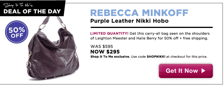 Rebecca Minkoff Nikki Hobo 50% off: Shop It To Me Exclusive