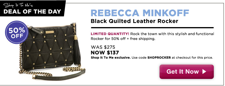 50% off Rebecca Minkoff Quilted Leather Rocker: Shop It To Me Exclusive!