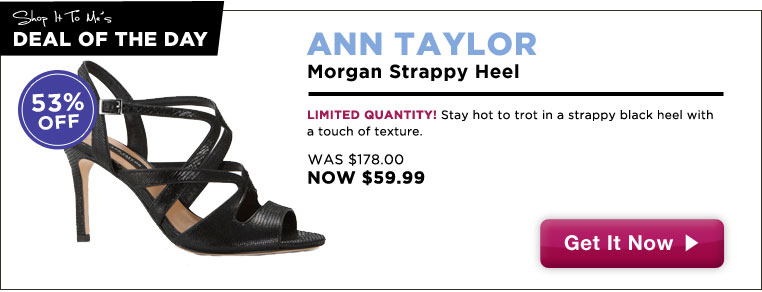 Ann Taylor Strappy Heels, 53% off: Deal of the Day