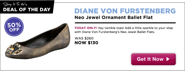 DVF Jewel Ballet Flats, 50% off: Deal of the Day