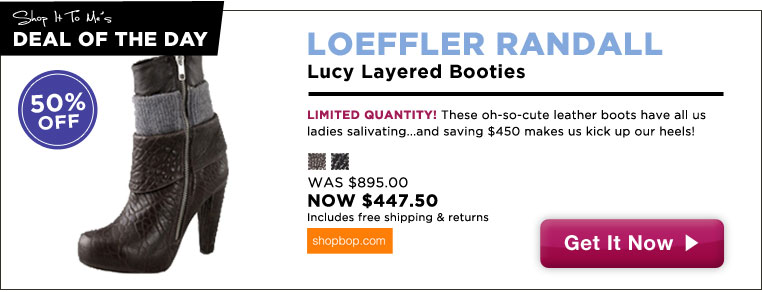Loeffler Randall Booties, 50% off: Deal of the Day!