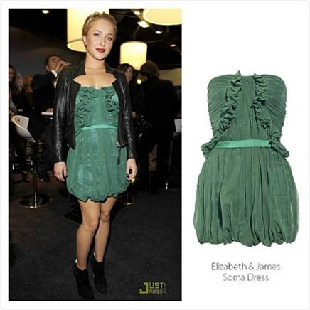 Hayden Panettiere's Green Dress in Salemail!