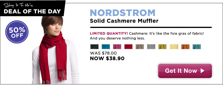 Cashmere Muffler, 50% off: Deal of the Day!