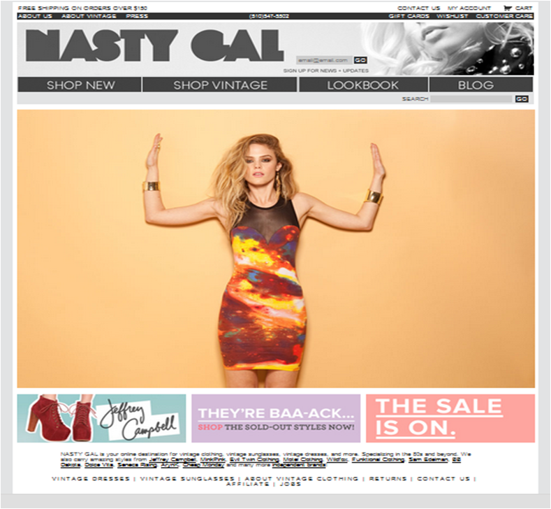 New Retailers: Shop NastyGal, Athleta, </br> Rock & Republic