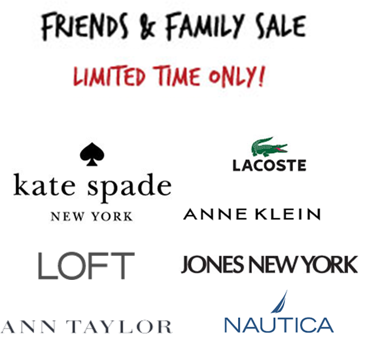 Friends and Family Sales Galore