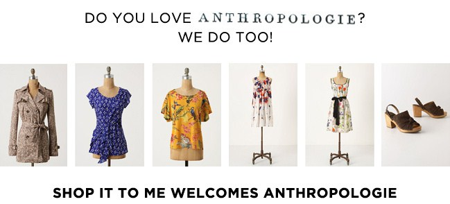 New Retailer: We've added Anthropologie.com