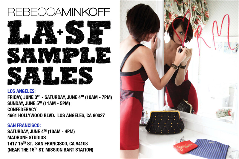 Rebecca Minkoff West Coast Sample Sale