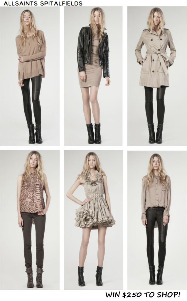 Win $250 to shop at AllSaints.com